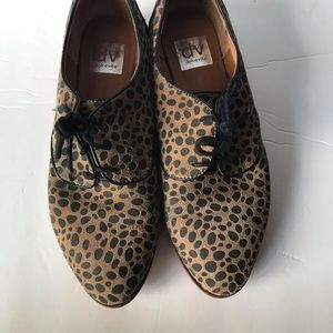 Dolce Vita Print Lace Up Suede Oxford Sz 9